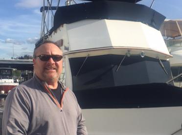 Kelley Marriott, Captain of the Rainbird, Soundview Sunset Cruises